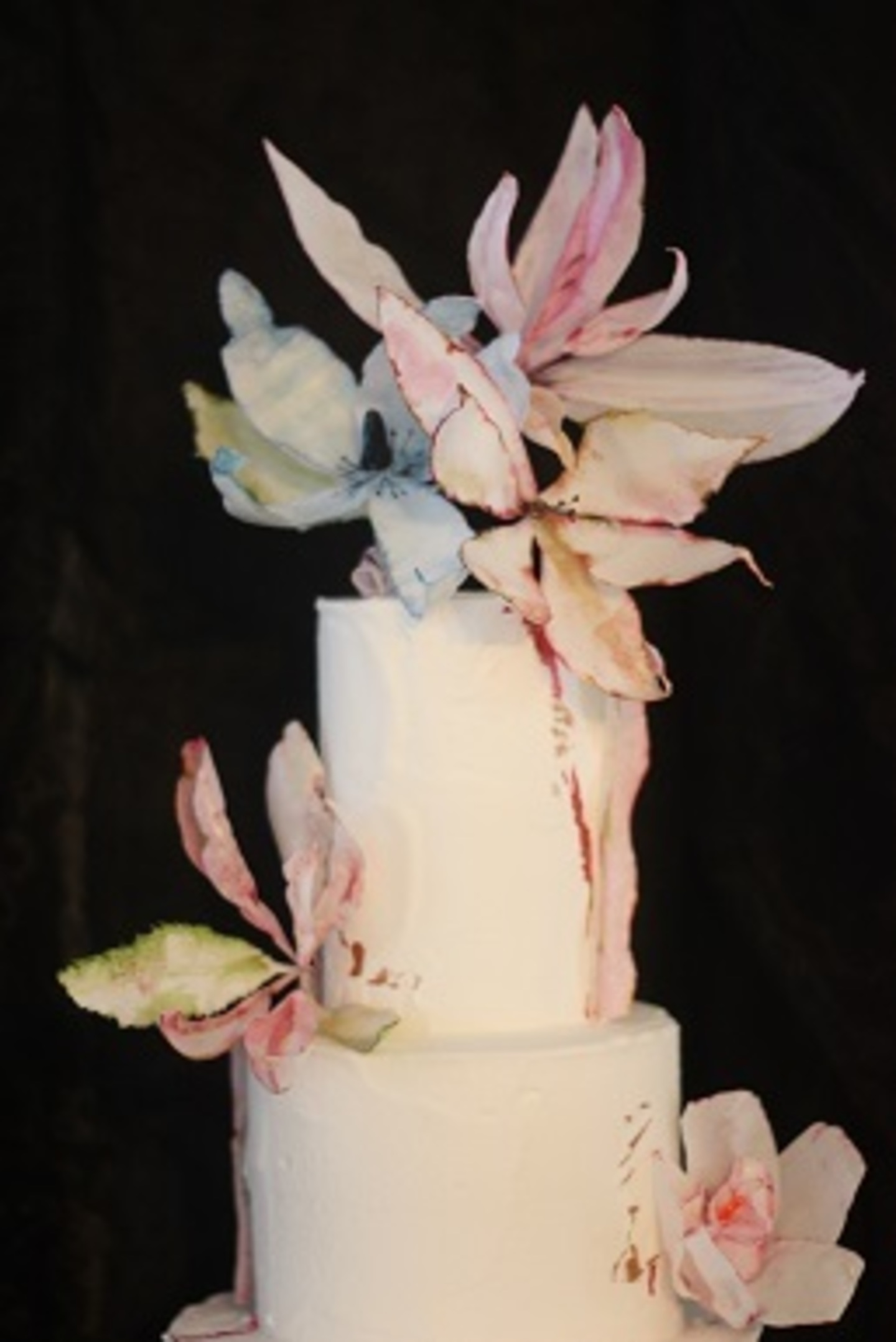Wedding cake wafer flowers