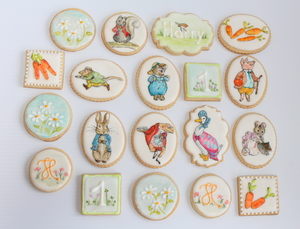 Bespoke, handpainted, royal iced Beatrix Potter cookies (€3 - €8 minimum order 12)