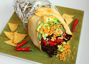 Carved cake to look like a real burrito (from €180)