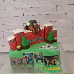 A specially commissioned cake for 'CISERO', the winner of the PUISSANCE CLASS at the Dublin Horse Show 2016