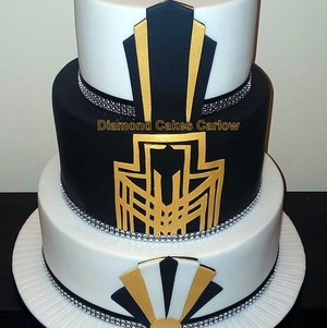 Art Deco - Lemon Drizzle, Red Velvet and Carrot Cake - Diamond Cakes Carlow