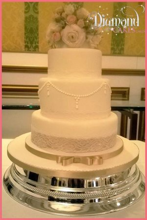 Wedding Cake - Diamond Cakes Carlow