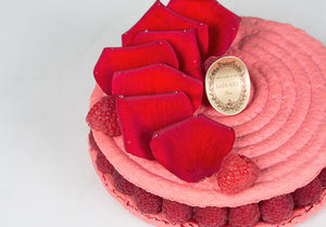 Ispahan Cake - PRE ORDER ONE WEEK IN ADVANCE. 4 people serving - €28 . 6 people serving - €40. 8 people serving - €55. 10 people serving - €75