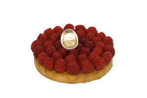 Raspberry & Passion fruit tart - PRE ORDER ONE WEEK IN ADVANCE. 4 people serving - €28 . 6 people serving - €40. 8 people serving - €55. 10 people serving - €75