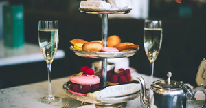 Afternoon tea - €45 for two people. €60 for two people with Prosecco.