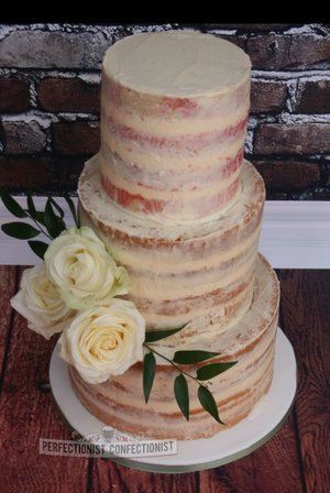 Naked cake semi naked wedding cake wedding cakes dublin shelbourne hotel wedding perfectionist confectionist 3