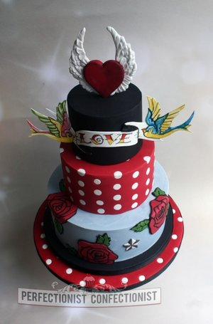 Rockabilly wedding cake retro wedding cake tattoo wedding cake wedding cakes swords cakes malahide cake kinsealy