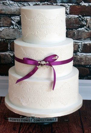 White wedding cake lace wedding cake vintage wedding cake cakes dublin cakes swords cakes kinsealy 2