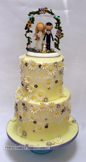 Yellow wedding cake killashee wedding cake wedding cakes malahide swords kinsealy bespoke cake 2