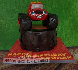 Blaze and the monster machines birthday cake cake birthday blaze dublin sworsds kinsealy malahide celebration chocolate novelty 6