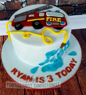 Fire engine fire truck birthday cake birthday cake fireman sam chocolate fudge dublin kinsealy malahide swords 2