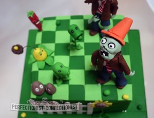 Plants vs zomies cake plants vs zombies birthday cake cakes north county dublin cakes swords cakes malahide birthday cake dublin celebration cake dublin 1