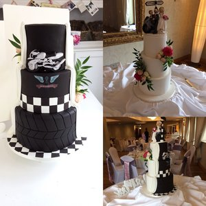 double side wedding cake motor bike