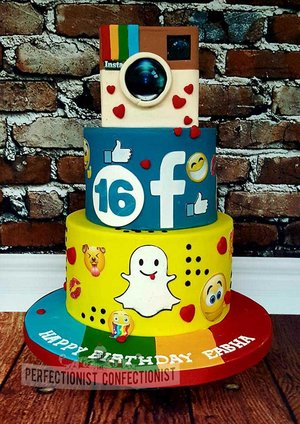 Facebook  instagram  snapchat  birthday cake  16th  chocolate biscuit cake  sandymount  swords  malahide  emoji   %283%29