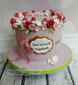 Pretty  beautiful  flowers  applegreen  bon voyage  cake  lemon  roses  dublin  swords  kinsealy  malahide  %289%29