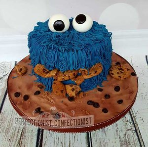 Cookie monster  cooking monster birthday cake  cooking monster cake  chocolate biscuit cake  birthday  novelty celebration  dublin  swords  malahide  kinsealy  %28 %283%29