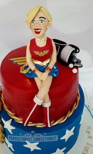 Chocolate biscuit cake  wonder woman cake  70th birthday cake  birthday  cake  sandymount  swords  malahide  kinsealy  dublin   %282%29