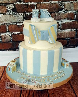 Christening cake  naming day cake  cake  swords  dublin  malahide  kinsealy  boots  converse  stripes  bowtie  chocolate  coffee  novelty  celebration  %282%29