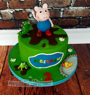Peppa pig peppa pig birthday cake  george  birthday cake  cake  chocolate  malahide  dublin cake  dublin  swords  portmarnock  kinsealy celebration  novelty  %281 %286%29