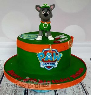 Paw patrol  birthday  cake  rocky  rocky cake topper  novelty  celebration  dublin  malahide  swords  portmarnock  kinsealy  chocolate  %285%29
