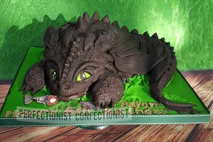 Toothless  dragon  birthday cake  birthday  cake  how to train your dragon cake  novelty  chocolate  celebration  swords  malahide  kinsealy  cake dublin  dublin   %283%29