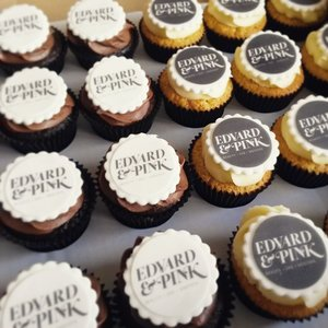 Corporate cupcake branded spa frosting