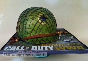 Call of duty wwii  call of duty ww2  cake  call of duty cake  helmet cake  battle cake  cakes dublin  cake malahide  demonware  cake swords   %285%29