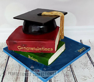 Graduation cake  cap and books cake  grad cake  celebration cake  congratulations cake  malahide cake  swords cake  dublin cake   %288%29