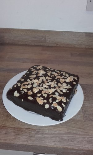Chocolate and almond square