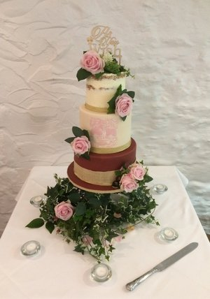 Hand Painted 'As You Wish' Wedding Cake