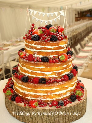 Gorgeous rustic naked cake