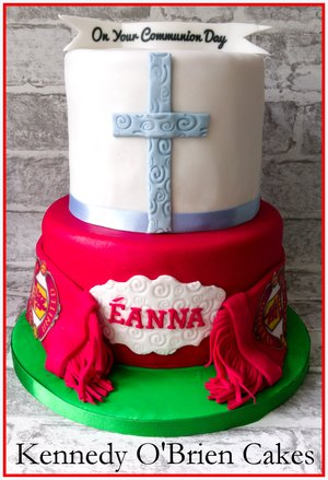 Communion & Man-United Cake