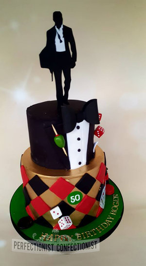 Vegas cake  50th birthday cake dublin  james bond cake  novelty cake  celebration cake  cake dublin  %283%29