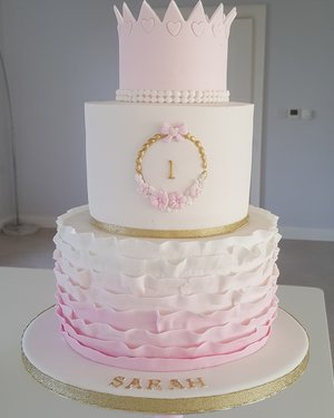 Ruffled birthday cake