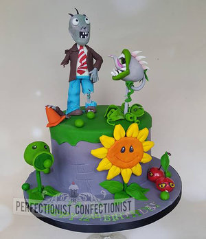 Plants vs zombies birthday cake  plants vs zombies  cake  birthday  dublin  swords  malahide  kinsealy  novelty  celebration  chocolate %281%29