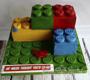 Lego  cake  building blocks  legos  good luck  bon voyage  sorry you're leaving  novelty  chocolate fudge  butterscotch  dublin  swords  kinsealy  malahide  portmarnock %281 %286%29
