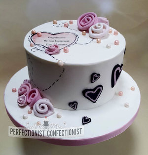 Engagement cake  malahide  swords  kinsealy  cake  novelty  roses  hearts  chocolate biscuit cake   %284%29