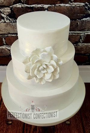 Wedding cake  castle durrow wedding cake  white  elegant  classic  succulent  dulblin  %2811%29