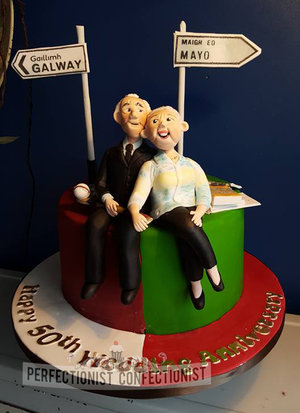 50th wedding anniversary cake  golden anniversary  cake  mayo  galway  celebration  novelty  cake toppers  dublin  swords  malahide  kinsealy  %286%29