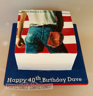 Bruce springsteen  birthday  cake  born in the usa  dublin  swords  malahide  kinsealy  celebration  40th  novelty  %282%29