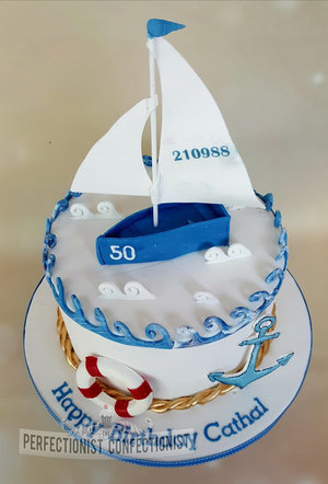 Sailboat  boating  yacht  boat  birthday  cake  birthday cake  chocolate biscuit cake  dublin  swords  malahide  kinsealy  fingal  40th  sailing %281%29