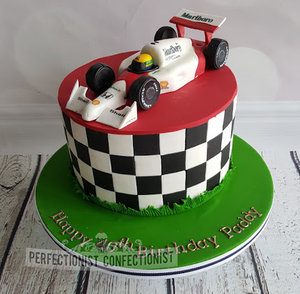 Ayrton senna  f1  macclarenm  birthday cake  cake  40th  choc fudge  novelty  celebration  swords  fingal  malahide  dublin  kinsealy  %282%29