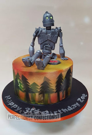The iron giant birthday cake  iron giant  cake  birthday cake  novelty  celebration  dublin  swords  malahide  cake topper  handmade   %287%29