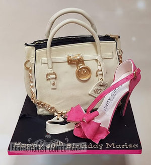 Handbag  shoe  sugar  birthday  cake  birthday cake  edible  jimmy choo  michael kors  40th birthday  dublin  swords  malahide  celebration  novelty %283%29