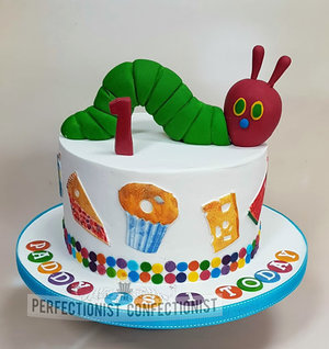The very hungry caterpillar cake  birthday cake  vanilla  dublin  swords  malahide  1st birthday  first birthday  novelty cake  celebration cake %285%29