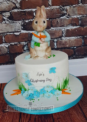 Peter rabbit cake  peter rabbit  christening cake  namaing day cake  beatrce potter  dublin  swords  malahide  kinsealy  celebration   %283%29