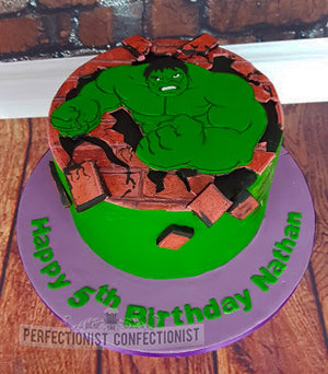 Hulk birthday cake  cake  birthday cake  incredible hulk cake  celebration  novelty  chocolate  swords  malahide  kinsealy  dublin  %285%29