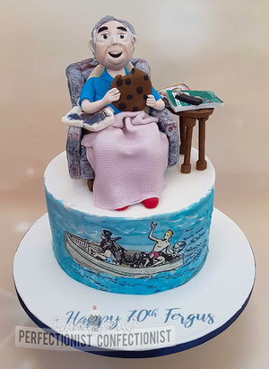 70th  birthday  cake  chocolate biscuit cake  armchair  cookie  rugby  row boat  sailing  donkey  malahide  donabate  kinsealy  swords  dublin  novelty %288%29