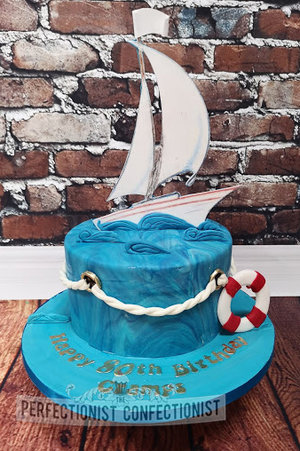 80th birthday cake  birthday cake  birthday  cake  sailing  boat  boating  sailboat  naval  dublin  sandymount  malahide  kinsealy  swords  %283%29