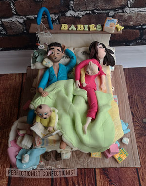 Bed  twins  baby  parents  tired  chaos  cake  babyshower  babyshower cake  holly mcnish  go the fuck to sleep  dublin  swords  malahide  kinselay  baby %287%29